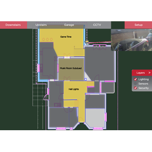 Upload your own floorplan image to view the state of your system